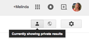 Google+ Private search