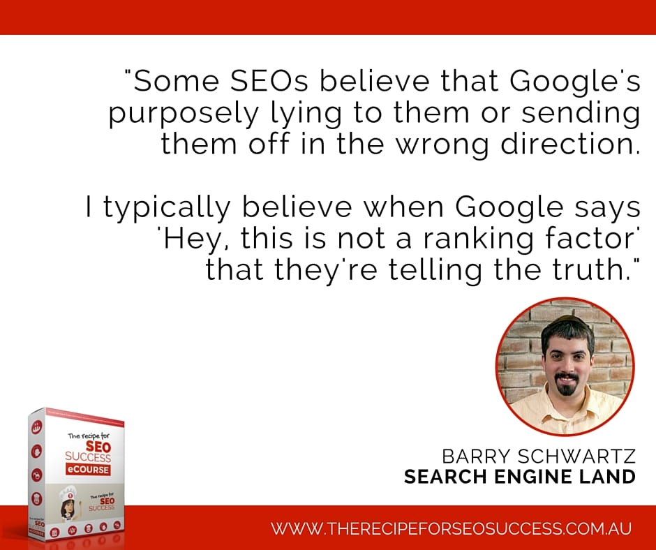 Barry Scwartz SEO quote