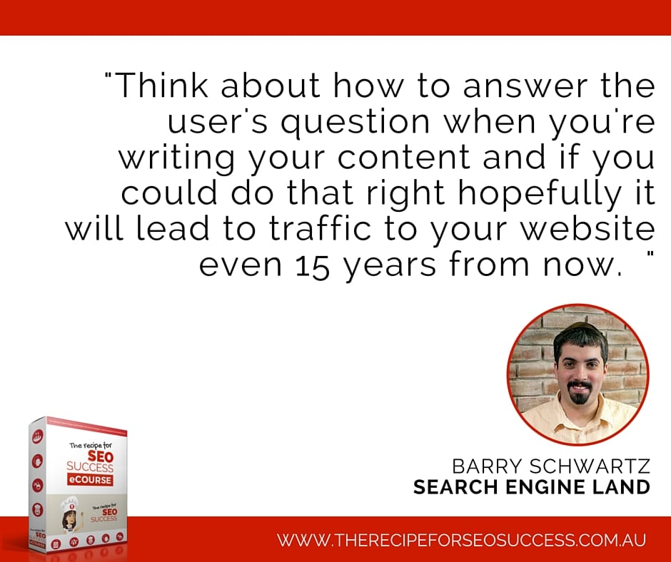Barry Schwartz on SEO