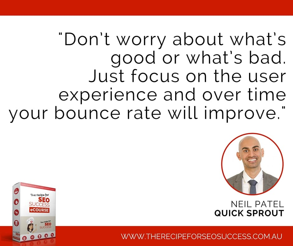 Neil Patel bounce rate