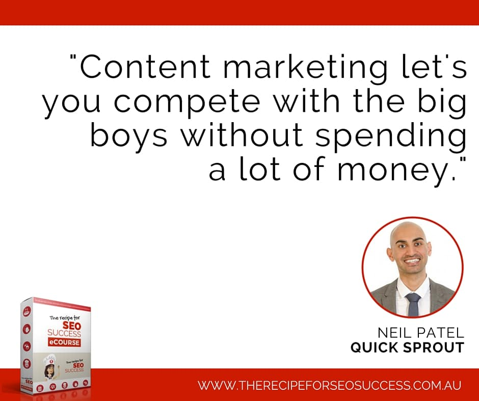 Neil Patel on content marketing