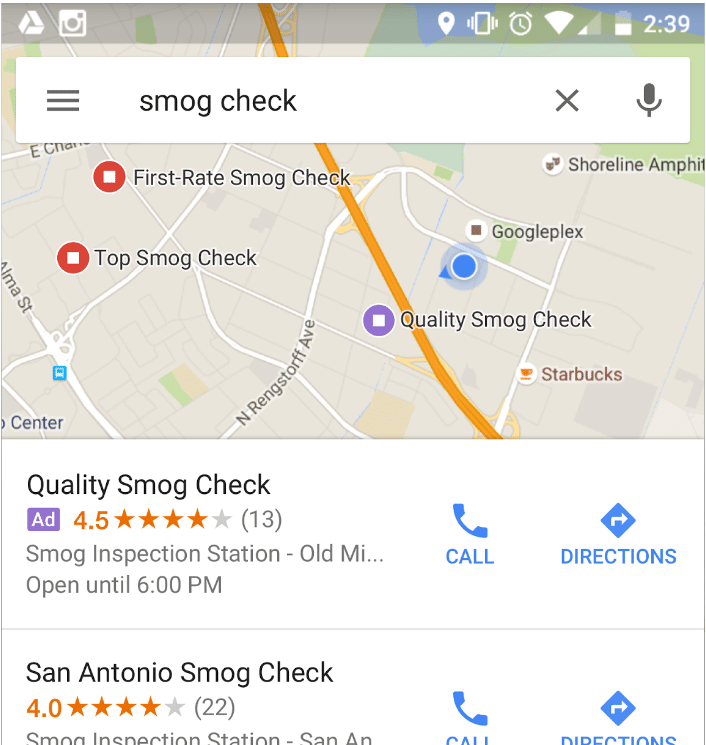 Google local ads