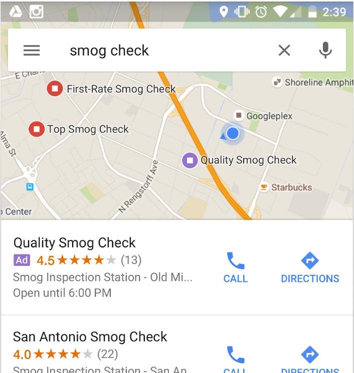 Google local ads