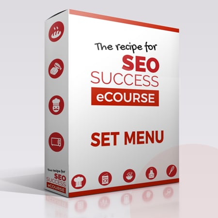 Set menu The Recipe for SEO Success eCourse