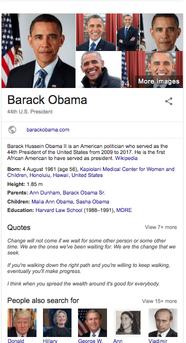 knowledge graph obama