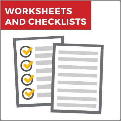 Worksheets & Checklists